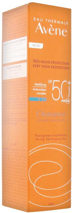 Opaľovací krém pre mastnú pokožku - Avene Solaires Cleanance Sun Care SPF 50+ — Obrázky N1