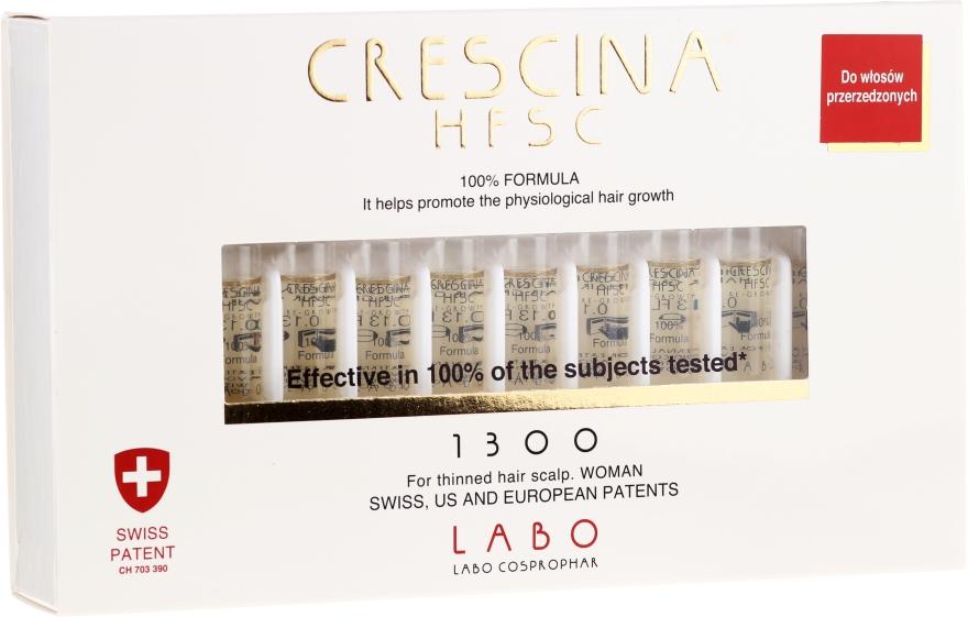 Ampulky na obnovu rastu vlasov, formula pre ženy - Labo Crescina HFSC Re-Growth 1300