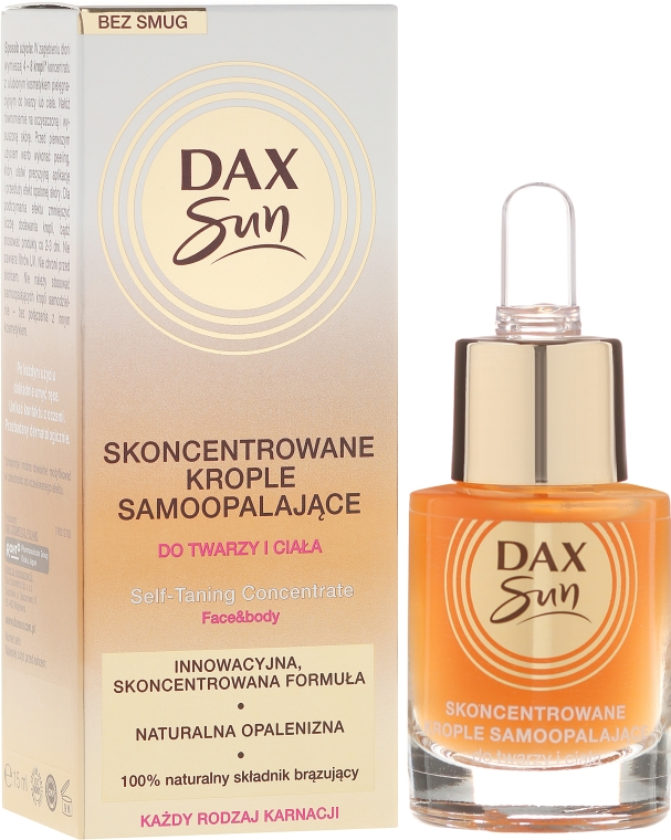 Koncentrát pre opaľovanie - Dax Sun Self-tanning Concentrated Drops