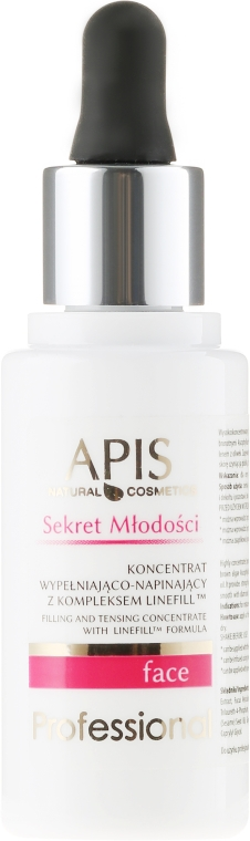 "Sérum-koncentrát na tvár ""Tajomstvo mladosti"" - APIS Professional Secret Of Youth Filling And Tensing Concentrate With Linefill Tm Formula"