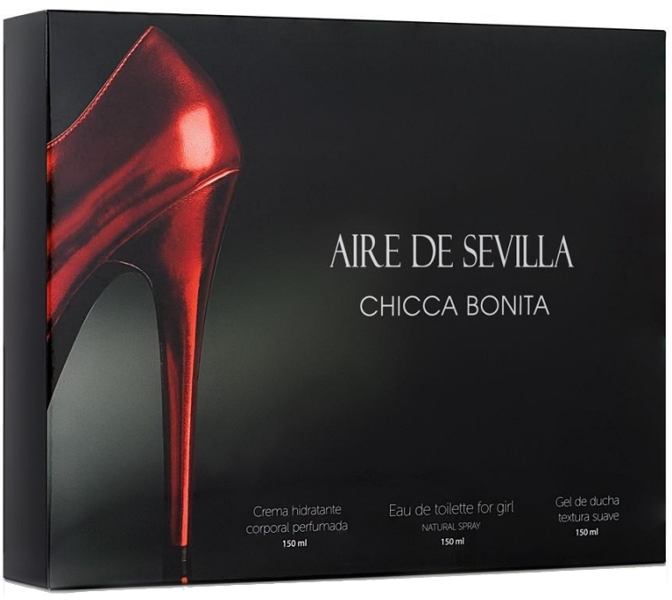 Instituto Espanol Aire de Sevilla Chicca Bonita - Sada (edt/150ml + sh/gel/150ml + cr/150ml)