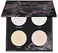 Voňavky, Parfémy, kozmetika Paleta rozjasňovačov na tvár - London Copyright Magnetic Face Powder Highlight Palette