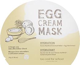 Voňavky, Parfémy, kozmetika Hydratačná pleťová maska s extraktom z vajec - Too Cool For School Egg Cream Mask Hydration