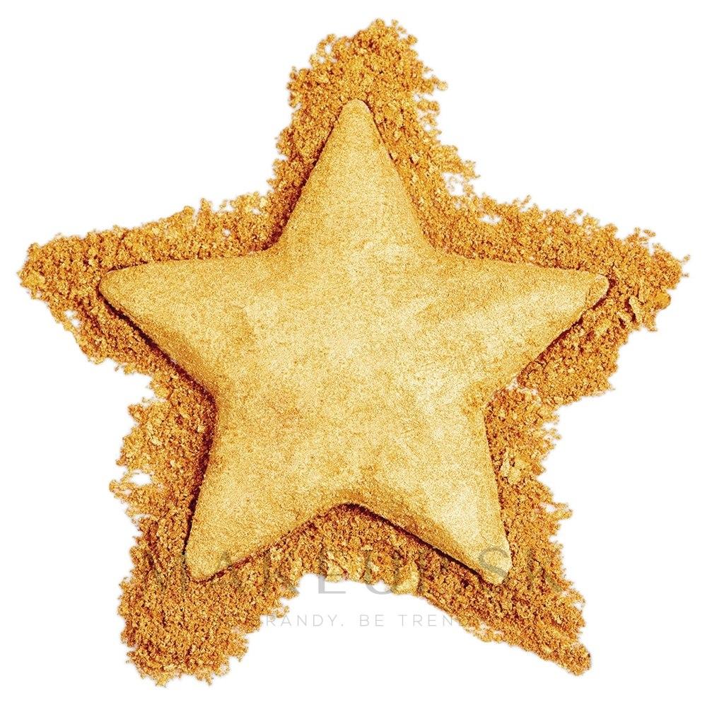 Rozjasňovač na tvár - Makeup Revolution Star of the Show Highlighter — Obrázky Gold Star