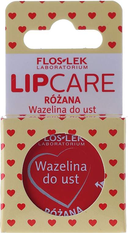"""Vazelína na pery kozmetický """"Ruža"""" - Floslek Lip Care Cosmetic Lip Vaseline Rose"""