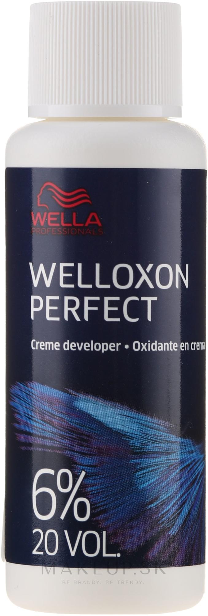 Oxidant - Wella Professionals Welloxon Perfect 6% — Obrázky 60 ml