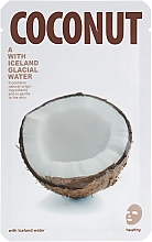 """Voňavky, Parfémy, kozmetika Textilná maska na žiarenie pokožky tváre """"Kokos"""" - The Iceland Coconut Mask"""