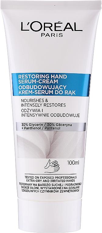 Sérum-krém na ruky - L'Oreal Paris Dermo Restoring Hand Serum-Cream