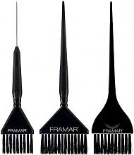 Voňavky, Parfémy, kozmetika Sada štetcov na farbenie vlasov, čierna - Framar 3 Piece Color Brush Set