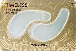Voňavky, Parfémy, kozmetika Hydrogélové náplasti so slimačím mucínom na pokožku očí - Tony Moly Timeless Ferment Snail Eye Mask