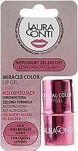 Voňavky, Parfémy, kozmetika Hydratačný gél na pery s ružovým odtieňom - Laura Conti Miracle Color Lip Gel