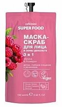 """Voňavky, Parfémy, kozmetika Maska-scrub na tvár a dekolt 3 v 1 """"Malina a rozmarín"""" - Cafe Mimi Super Food"""