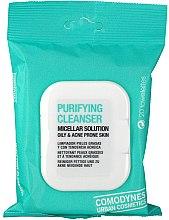 Voňavky, Parfémy, kozmetika Čistiace micelárne utierky pre mastnú a akné-náchylnú pokožku - Comodynes Purifying Cleanser Oily & Acne Prone Skin