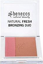 Voňavky, Parfémy, kozmetika Lícenka-bronzer na tvár - Benecos Natural Fresh Bronzing Duo