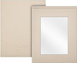 Voňavky, Parfémy, kozmetika Kozmetické skladacie vreckové zrkadlo, béžové - MakeUp Pocket Mirror Beige