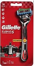 Voňavky, Parfémy, kozmetika Holiaci strojček s 1 vymeniteľnou kazetou, červený - Gillette Fusion ProGlide Power