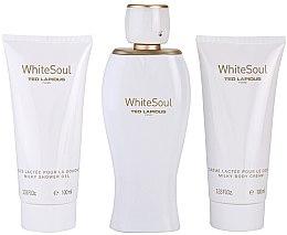 Voňavky, Parfémy, kozmetika Ted Lapidus White Soul - Sada (edp/100ml + b/cr/100ml + sh/gel/100ml)