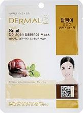Maska s kolagénom a extraktom slimákov - Dermal Snail Collagen Essence Mask — Obrázky N1