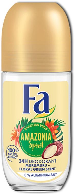 """Deodorant na kolieskach """"Rytmy z Brazílie"""" - Fa Amazonia Spirit Deo Roll On"""