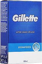 """Voňavky, Parfémy, kozmetika Mlieko po holení """"Pikantné"""" - Gillette Blue Storm Force After Shave Splash"""