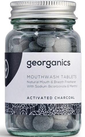 "Tabletky na výplach úst ""Aktívne uhlie"" - Georganics Mouthwash Tablets Activated Charcoal"
