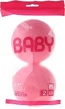 Voňavky, Parfémy, kozmetika Sada špongie, 2 ks, ružové - Suavipiel Baby Soft Sponge