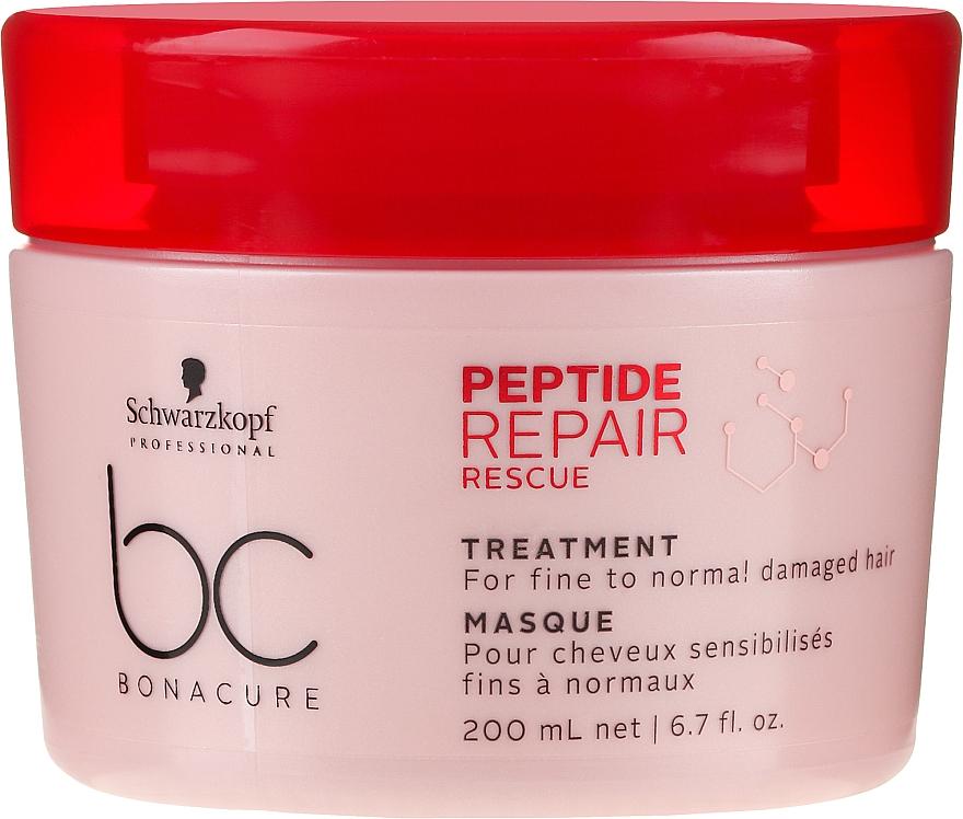 Regeneračná maska pre tenké a normálne poškodené vlasy - Schwarzkopf Professional BC Bonacure Peptide Repair Rescue Treatment Mask