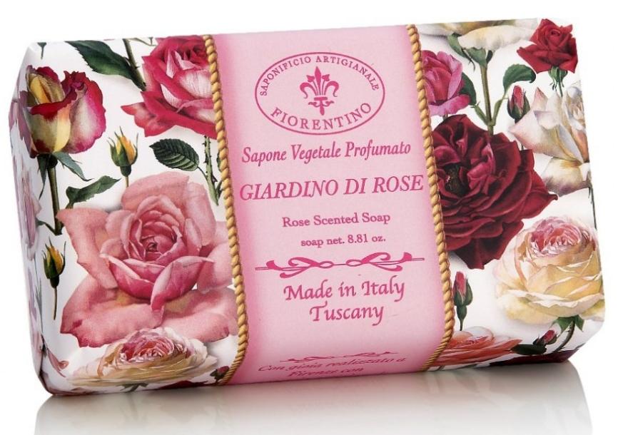 """Prírodné mydlo """"Ružová záhrada"""" - Saponificio Artigianale Fiorentino Rose Garden Scented Soap — Obrázky N1"""