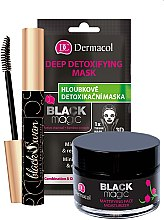Voňavky, Parfémy, kozmetika Sada - Dermacol Black Magic (f/gel/50ml + f/mask/1pc + mascara/10ml)