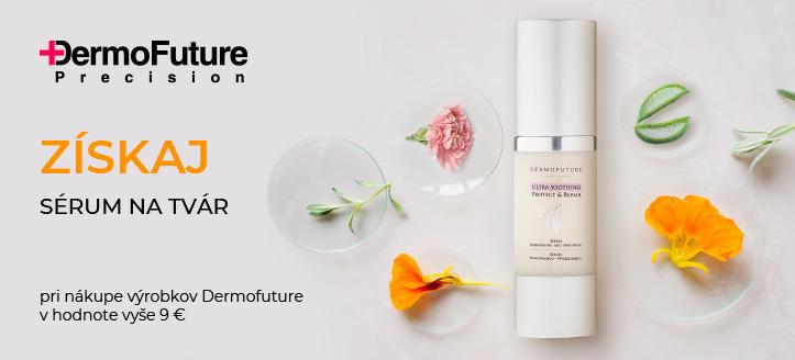 Pri nákupe výrobkov Dermofuture v hodnote vyše 9 € získaj regeneračné vyhladzujúce sérum ako darček