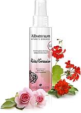 """Voňavky, Parfémy, kozmetika Parfumovaný sprej na telo """"Rose a Geranium"""" - Allverne Nature's Essences Body Mist"""