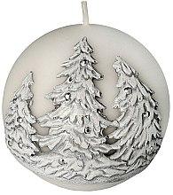 """Voňavky, Parfémy, kozmetika Dekoratívna sviečka """"Guľa. Vianočné stromčeky"""", 10 cm - Artman Christmas Tree Candle Ball"""