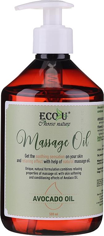 Masážny olej - Eco U Avocado Massage Oil