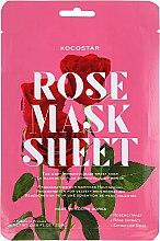 """Voňavky, Parfémy, kozmetika Liftingová plátienková maska na tvár """"Ruža"""" - Kocostar Slice Mask Sheet Rose"""