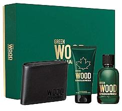 Voňavky, Parfémy, kozmetika Dsquared2 Green Wood Pour Homme - Sada (edt/100ml + sh/gel/100ml + wallet)