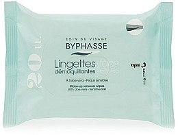 Voňavky, Parfémy, kozmetika Servítky na odstránenie make-upu, 20 ks - Byphasse Aloe Vera Make-up Remover Wipes Sensitive Skin