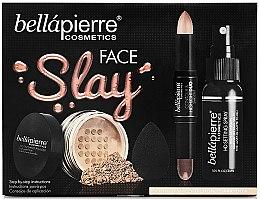 Voňavky, Parfémy, kozmetika Sada - Bellapierre Face Slay Kit Dark/Deep (stick/8.6g+powder/6.5g+spray/70ml+sponge/1pcs)