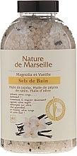 Voňavky, Parfémy, kozmetika Soľ do kúpeľa s príchuťou magnólie a vanilky - Nature de Marseille