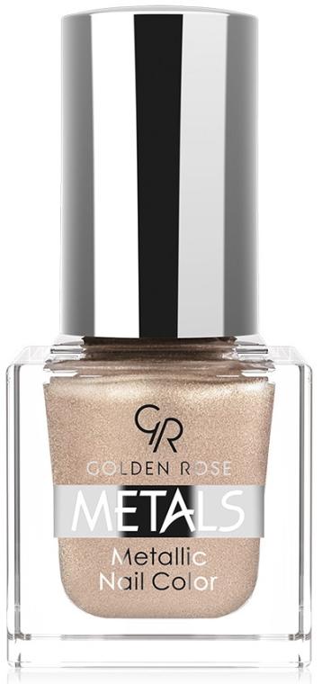 Lak na nechty - Golden Rose Metals Metallic Nail Color