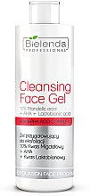 Voňavky, Parfémy, kozmetika Exfoliačný gél 10% kyselina mandľová + AHA + kyselina Laktobionová - Bielenda Professional Exfoliation Face Program Cleansing Face Gel
