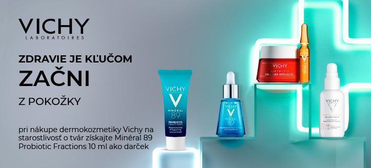 Pri nákupe dermokozmetiky Vichy na starostlivosť o tvár získajte Minéral 89 Probiotic Fractions 10 ml ako darček