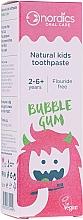 Voňavky, Parfémy, kozmetika Detská zubná pasta Bubble gum s príchuťou žuvačiek - Nordics Natural Kids Bubble Gum Toothpaste