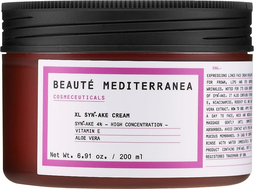 Peptidový krém na tvár s s botulínovým efektom - Beaute Mediterranea Botox Like Syn Ake Cream