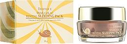 Voňavky, Parfémy, kozmetika Nočná maska so slimačím mucínom - Deoproce Snail Galac-Tox Revital Sleeping Pack