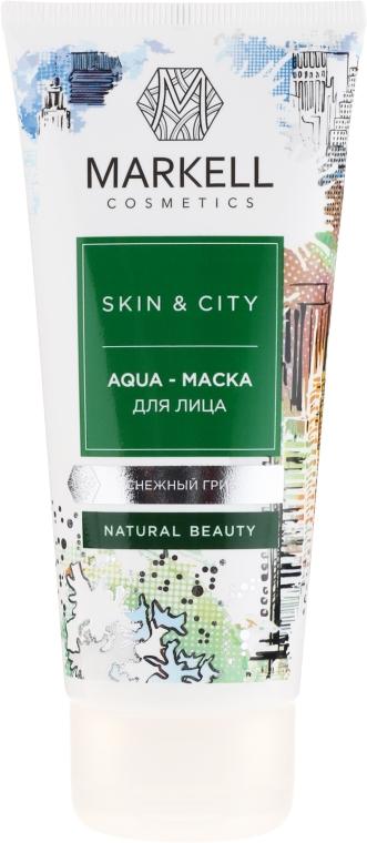 "Aqua-maska na tvár ""Snežná huba"" - Markell Cosmetics Skin&City Face Mask"