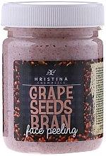Voňavky, Parfémy, kozmetika Peeling na tvár s hroznových semienok - Hristina Cosmetics Grape Seeds Bran Face Peeling
