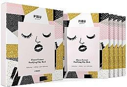 Voňavky, Parfémy, kozmetika Sada - Pibu Beauty Flower Extract Purifying Clay Mask Set (f/mask/5x18g)