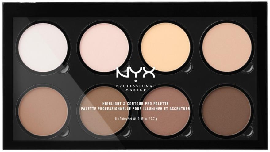 Kontúrovacia paleta - NYX Professional Makeup Highlight & Contour Pro Palette