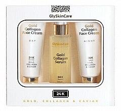 Voňavky, Parfémy, kozmetika Sada - GlySkinCare Gold Collagen (cr/2x50ml + serum/50ml)
