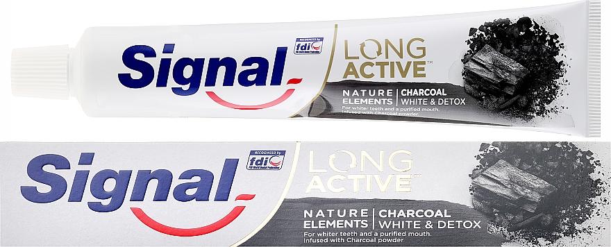 Zubná pasta - Signal Long Active Nature Elements Charcoal